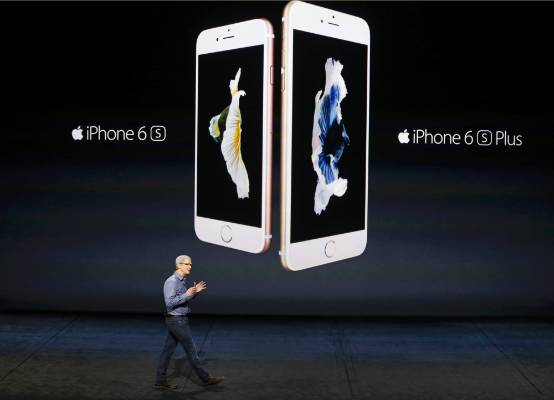 Tim Cook introduces the iPhone 6s and iPhone 6s.