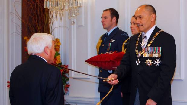 Businessman Sir Peter Talley of Motueka has been knighted for services to business and philanthropy at Government House ...