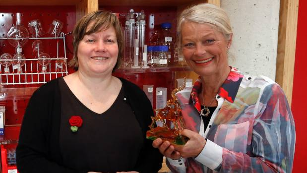 Marlborough District Council economic development officer Cathie Bell, left, and Vitis chief executive Cathy Robinson. ...