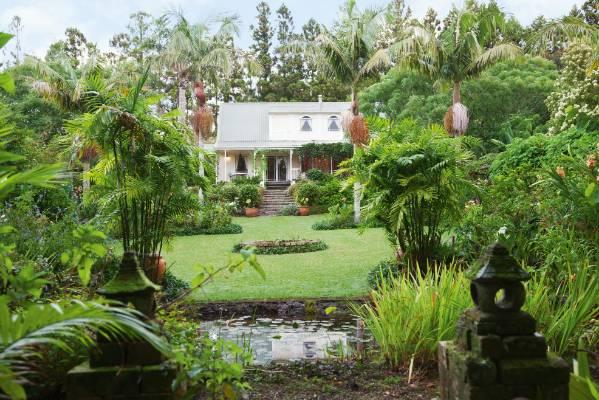 Gillian Burrough designed her Kerikeri garden around a strong central axis from the verandah of her