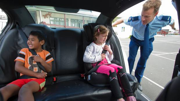 wai lwin and rhianna doherty get some safety advice from constable aj cornwall