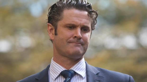 Former New Zealand cricketer Chris Cairns leaves Southwark Crown Court in London.