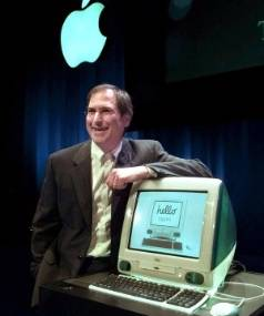 Steve Jobs launching the game-changing iMac in 1998.