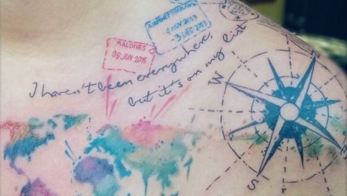 39274ffe80eef Wanderlust: 10 of the best travel tattoos on Instagram | Stuff.co.nz
