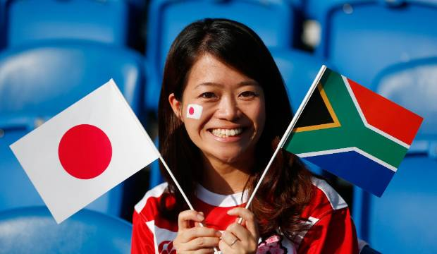 Would a Japan victory in the Rugby World Cup quarterfinal still be considered an upset?