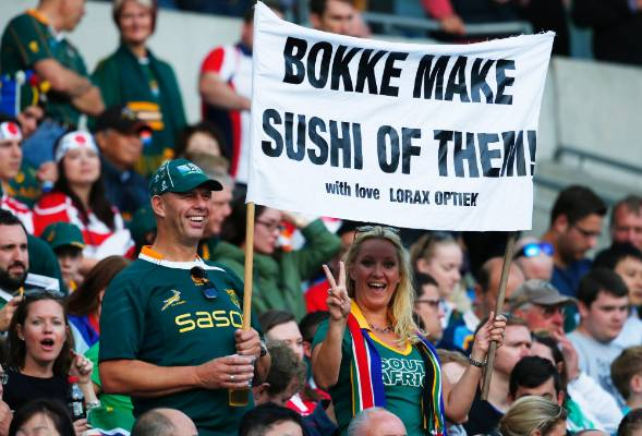 South African fans are full of confidence as their team takes on Japan.