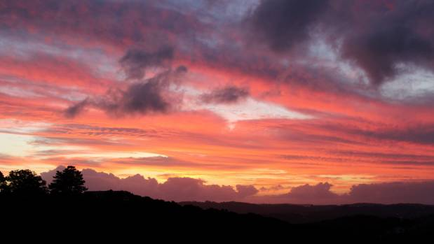 Sunset on Waiheke Island.