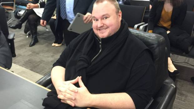 Kim Dotcom brought his own chair to court for his extradition hearing, saying he had back issues.
