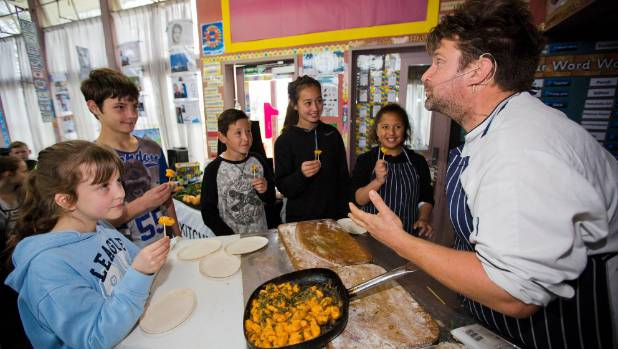 Chris Fortune visited Roslyn School with his Kids Can Cook Kitchen teaching pupils about cooking and eating healthily. ...