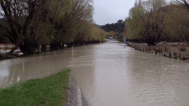 Tuturumuri School, near Tora in south Wairarapa, is cut off by flooding, with the only road out to Martinborough submerged.