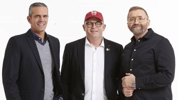 Masterchef New Zealand judges Josh Emett, Al Brown and Mark Wallbank.