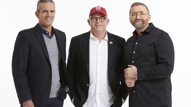 TV3's Masterchef New Zealand judges Josh Emett, Al Brown and Mark Wallbank.