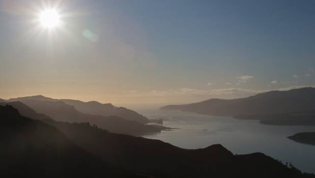 The view from the top of the Port Hills is stunning.