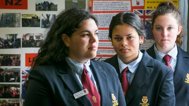Otorohanga College students, from left, Rhiannon Magee, Tai Jones and Leah Bell were behind the petition, which nearly ...