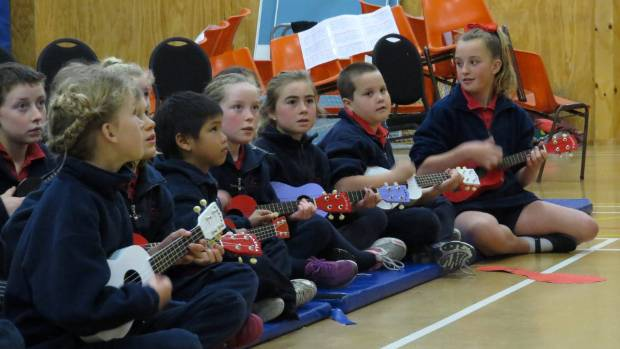 """Leithfield School pupils """"jumped"""" at the chance to play with an orchestra."""