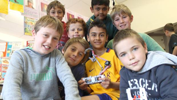The First Officials team from Maungawhau School finished third in the New Zealand First LEGO League Robotics Championships.