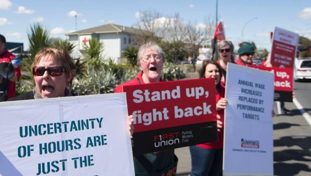 Protesters in Hamilton