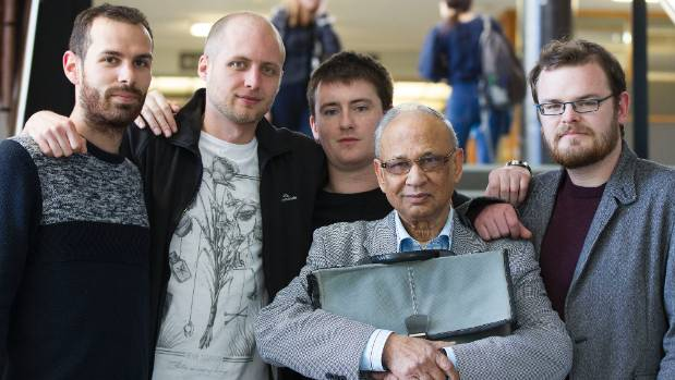 Dr Jay Shaw, centre, a lecturer in non-Western philosophy, says he has been forced to retire from his job at Victoria ...