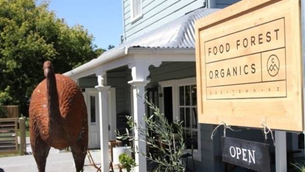James Cameron's Forest Food Organics in Greytown.