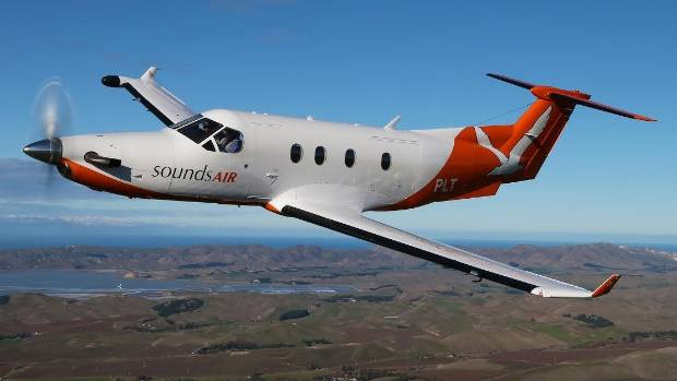 The Pilatus PC12 which Sounds Air will fly between Blenheim and Napier.
