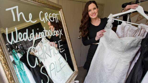 Sarah Kelly Prepares For The Great Weddingtoolbox Garage Sale In Palmerston North