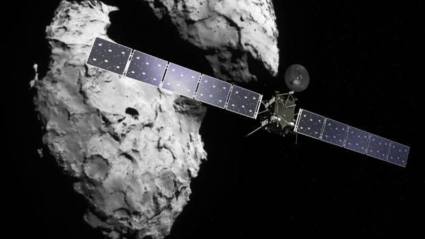 The Rosetta space probe is currently orbiting the 'rubber duck' Comet 67P/Churyumov-Garasimenko.