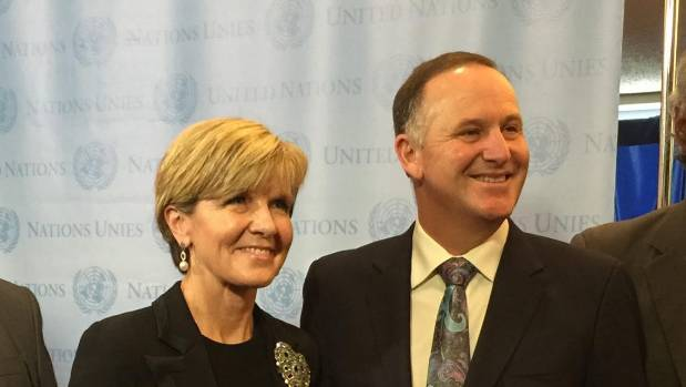 Australian Foreign Minister Julie Bishop, seen here with Prime Minister John Key, might think Kiwis and Aussies are best ...