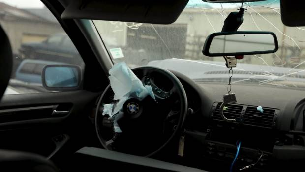 Takata air bag blamed for death during fix  job