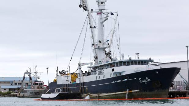 Talley's tuna boat Eagle tied up at Port Nelson.