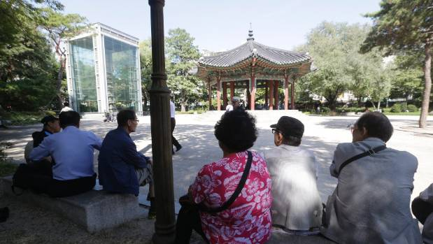 Elderly prostitutes once thrives at Tapgol park in Seoul, although a police crackdown in the spring pushed some to a ...