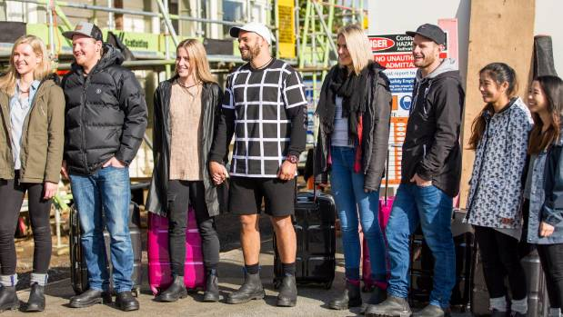 The Block NZ contestants arrive on site.