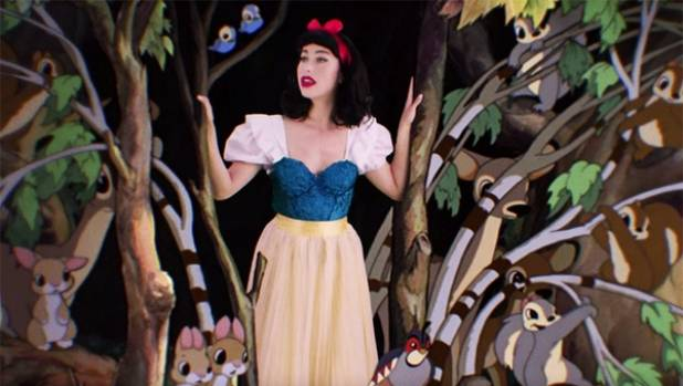 Kimbra gets to be Snow White in the music video for I'm Wishing, which features on a We Love Disney compilation album.