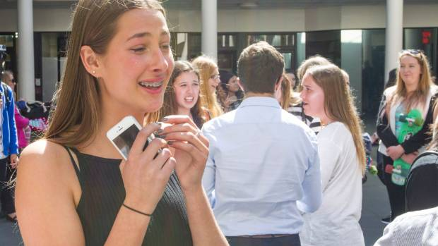 14-year-old Ella Mitchell was reduced to tears after catching a glimpse of the star.