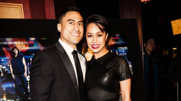 Joe Naufahu with fellow actor Teuila Blakely at the premiere of The Last Saint.
