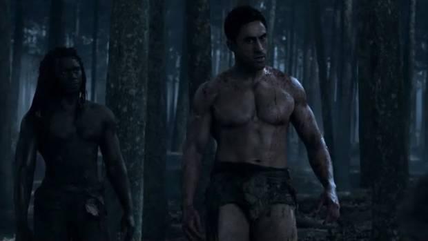Joe Naufahu in a scene from Spartacus.