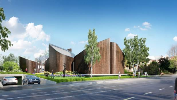An artist's impression of the new Ravenscar House planned for Rolleston Ave in Christchurch. The architect is Andrew ...