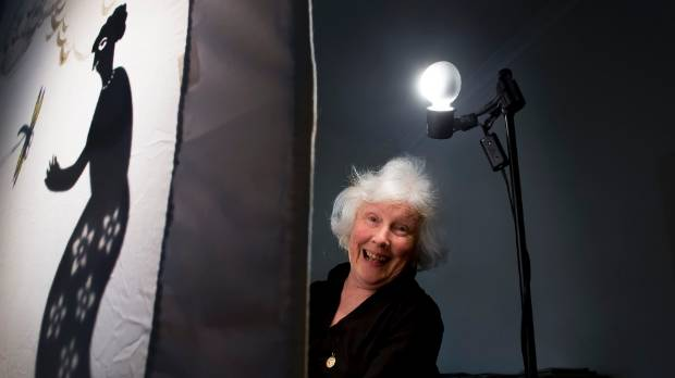 Out of the Suitcase Festival director Rose Beauchamp is also performing herself, using shadow puppets in The Blue Shoe Show.