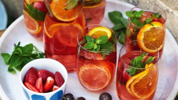 Recipe pink sangria stuff sangria is the perfect aperitif for a christmas dinner forumfinder Gallery
