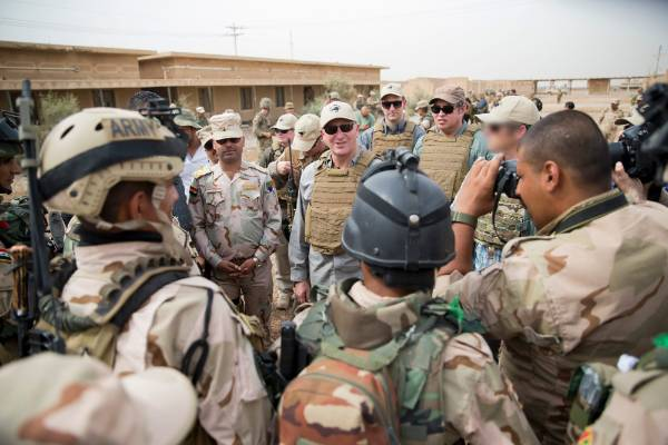 New Zealand Prime Minister John Key visited kiwi troops based at Camp Taji in Iraq who are part of a mission to train ...