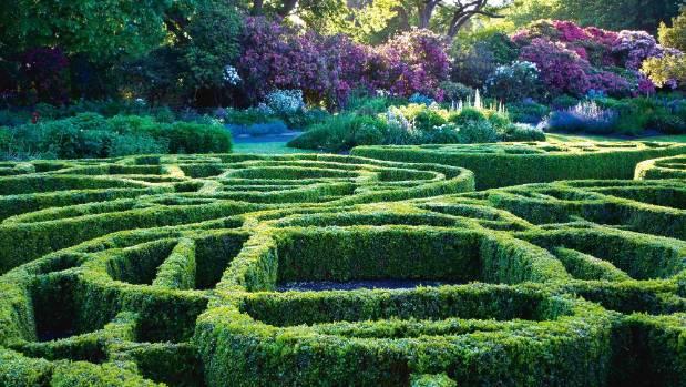A knot gardens at Dunedin Botanic Garden.