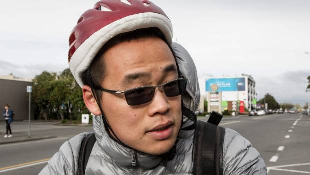 Yiwen Youn says he gets nervous when he is cycling in narrow cycle lanes.