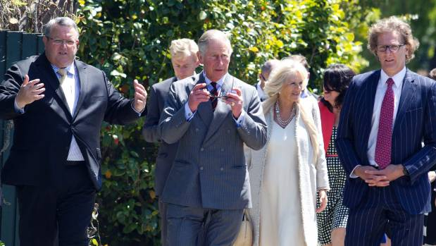 Earthquake Recovery Minister Gerry Brownlee, left, Prince Charles, Camilla and former Canterbury Earthquake Recovery ...