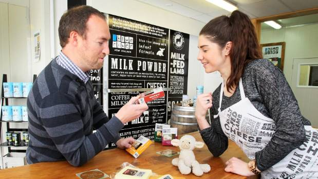 Gareth Lyness and Courtney Forde of Blue River Dairy are setting up shop for the new Sheep Milk Coffee Bar on Nith Street.