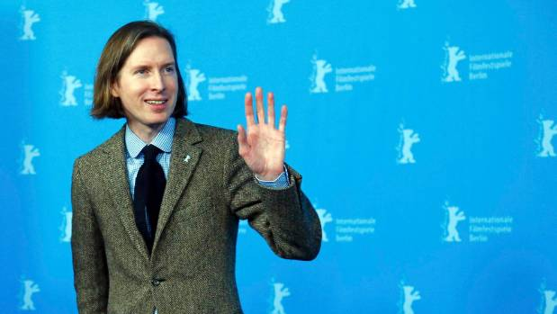 Director Wes Anderson promoting his Golden Globe-winning movie The Grand Budapest Hotel at the Berlin Film Festival in 2014.