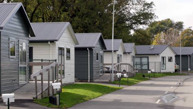 Temporary housing villages were used in Christchurch to provide a home for quake-displaced residents.