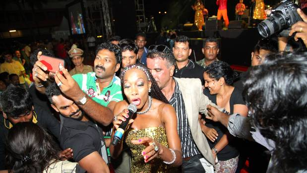 Brown Girl in The Ring: Maizie Williams singing with her version of Boney M. in India in 2015.