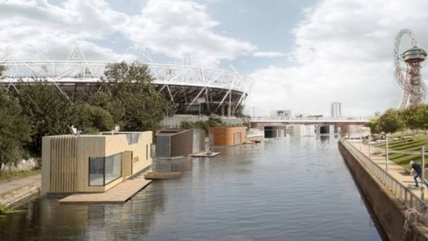 Floating homes could potentially line many miles of unused waterways in Greater London.