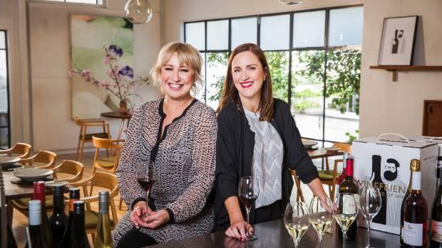 Yvonne Lorkin (left) and Debbie Sutton, co-founders of bespoke delivery service WineFriend.