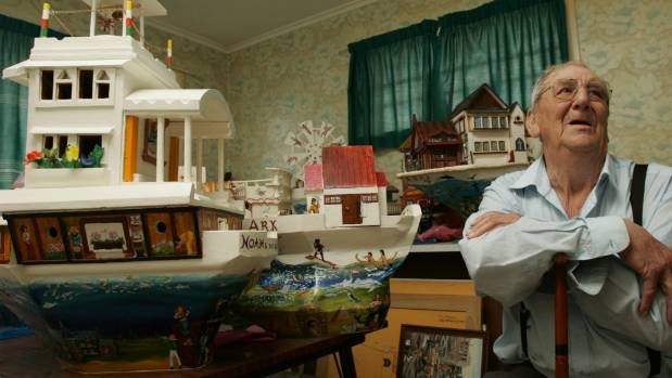 Upper Hutt man Bob Gerrard makes intricate models of Noahs Ark. PICTURE: DOMINION POST