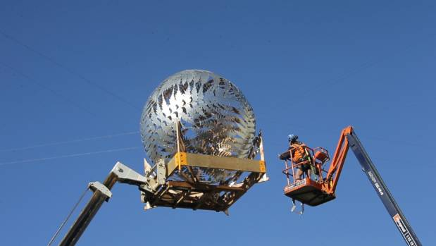 Wellington's renowned sculpture Ferns is removed from its position in the Civic Square for repair in June. Now council ...